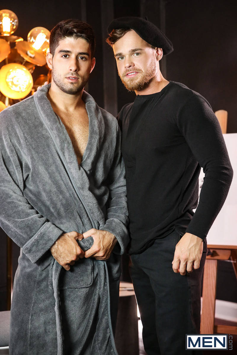 Diego Sans & Max Wilde in The Artist for MEN.com