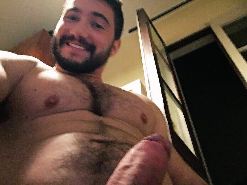 selfie with an uncut cock