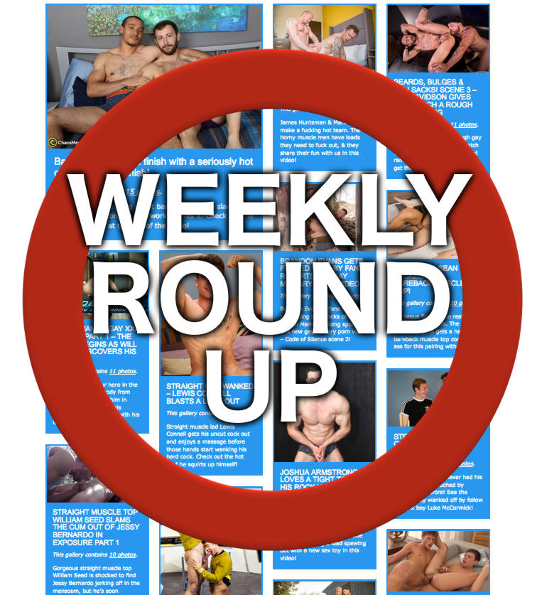 Weekly gay porn round up