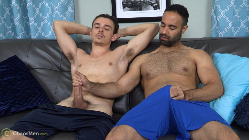 straight guy hand job from another man