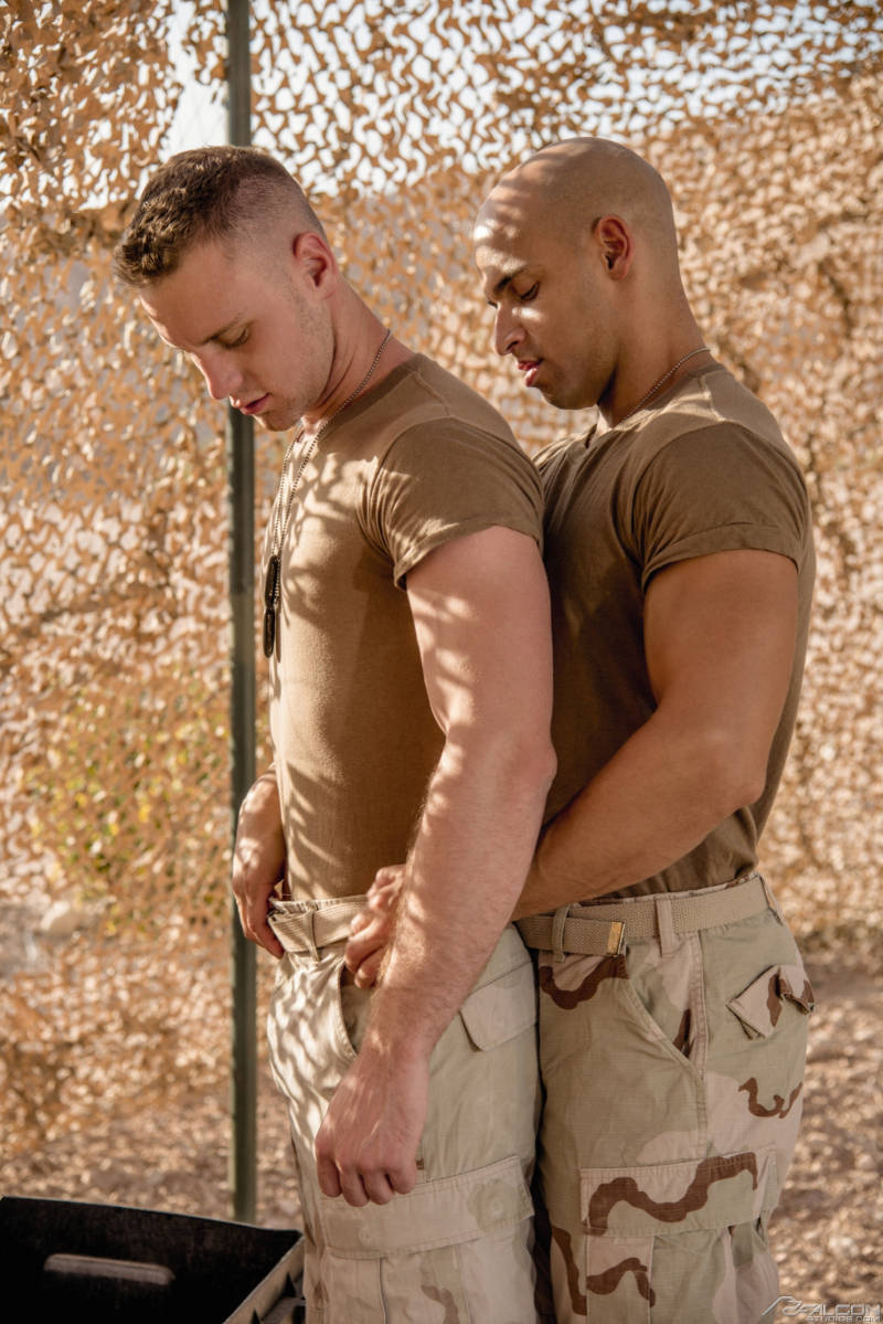two military men in gay porn