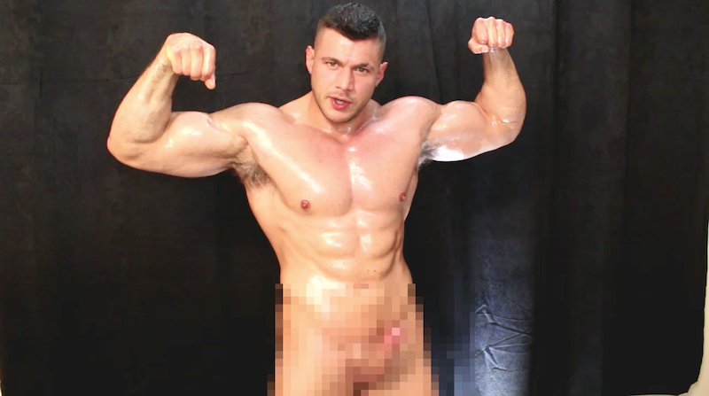 rock hard muscle man cock