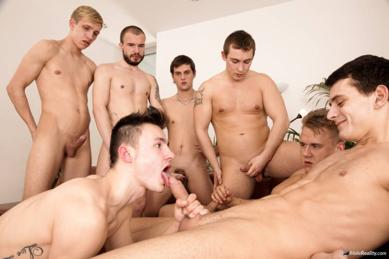 guys jerking off watching a gay guy sucking cock