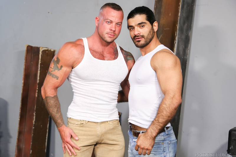 Gay muscle men Sean Duran and Ali Liam at Pride Studios