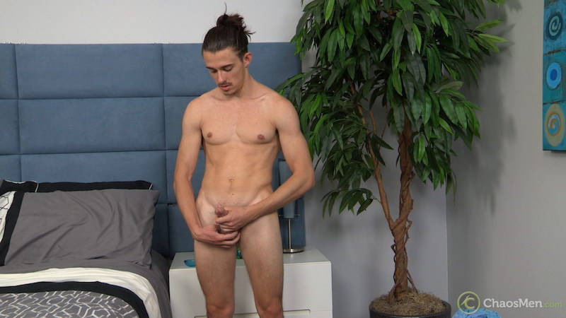 naked straight guy jacking off