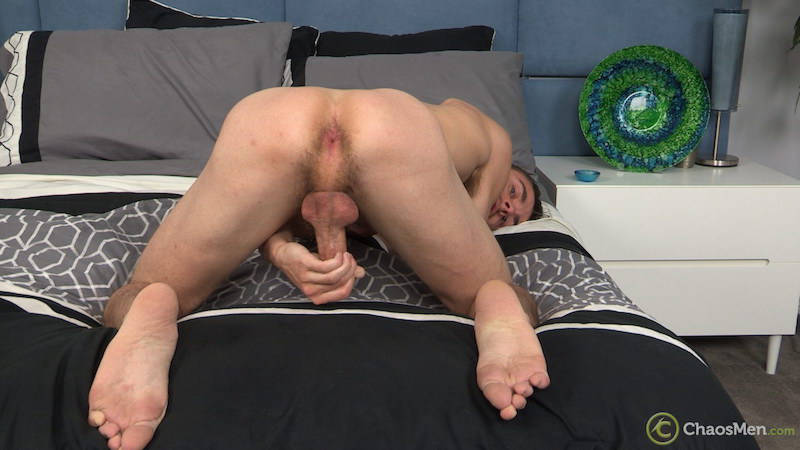 straight guy kneeling and bendong over to show his virgin asshole