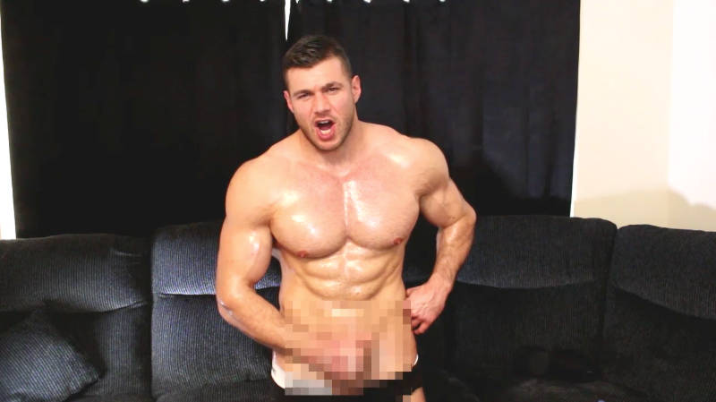 muscle man jacking off in a muscle worship video