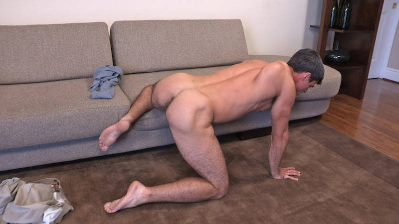 naked straight man with a hairy ass