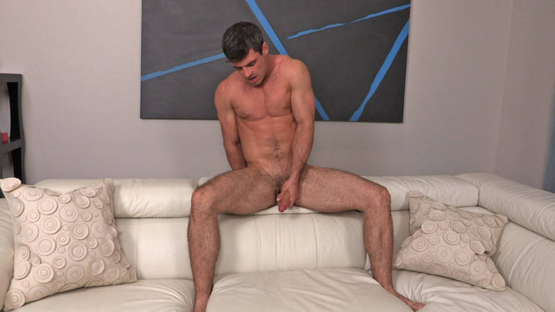 handsome straight man jacking off on video