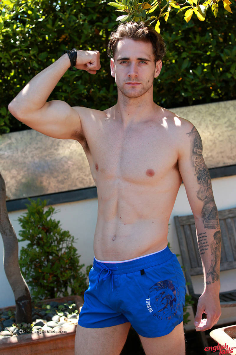 handsome straight guy shirtless
