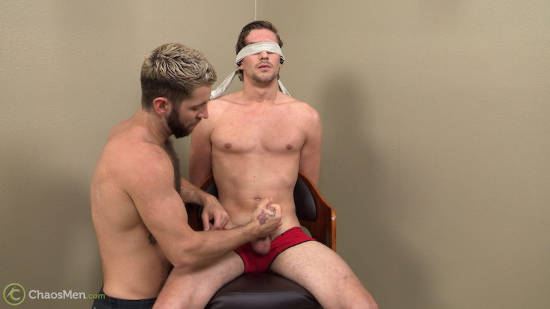 Straight jock sucked and jerked in an edge video at Chaosmen.com