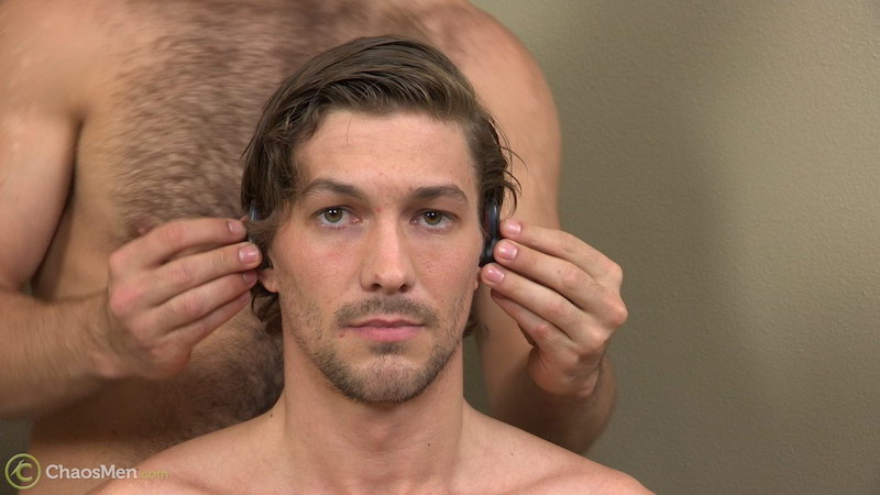 handsome straight guy in an edging video