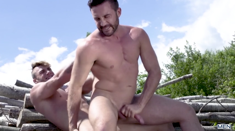 gay daddy riding a straight muscle jock cock