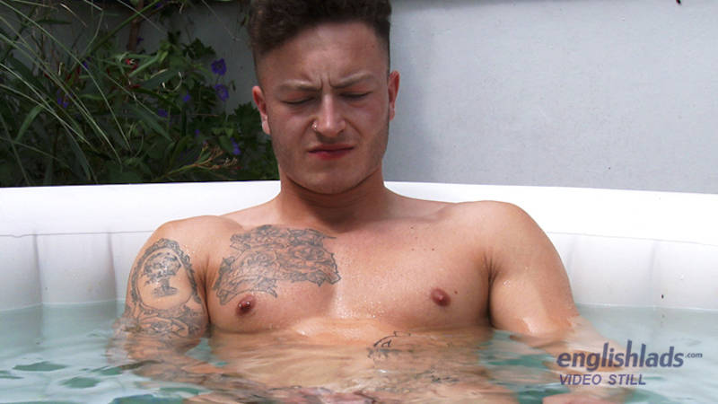 jacking off in the pool