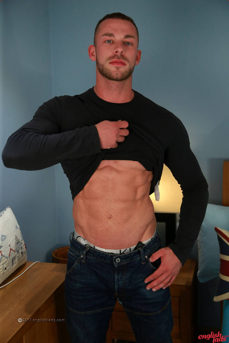 Handsome straight muscle jock Conall Timpson