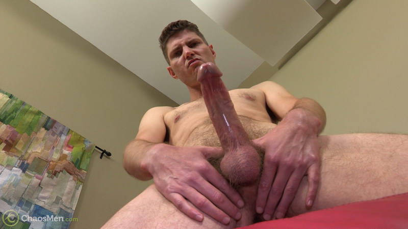 horny gay porn star showing his long and wet cock