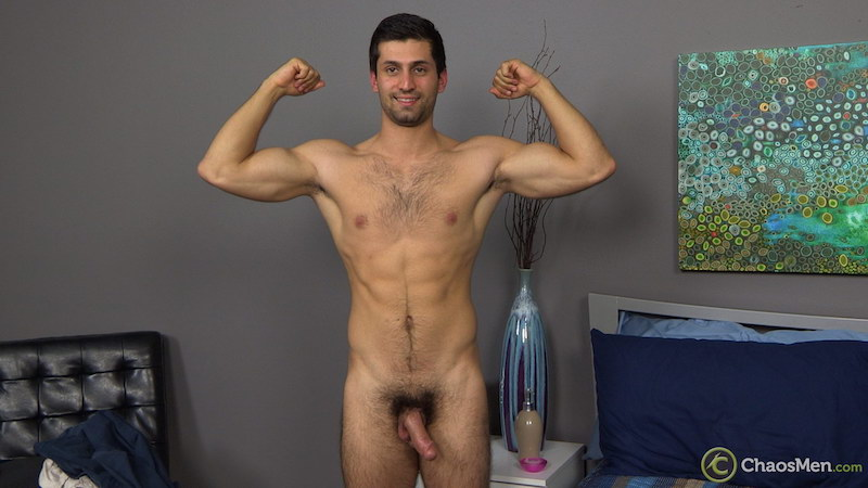 naked straight guy getting hard for a jack off video