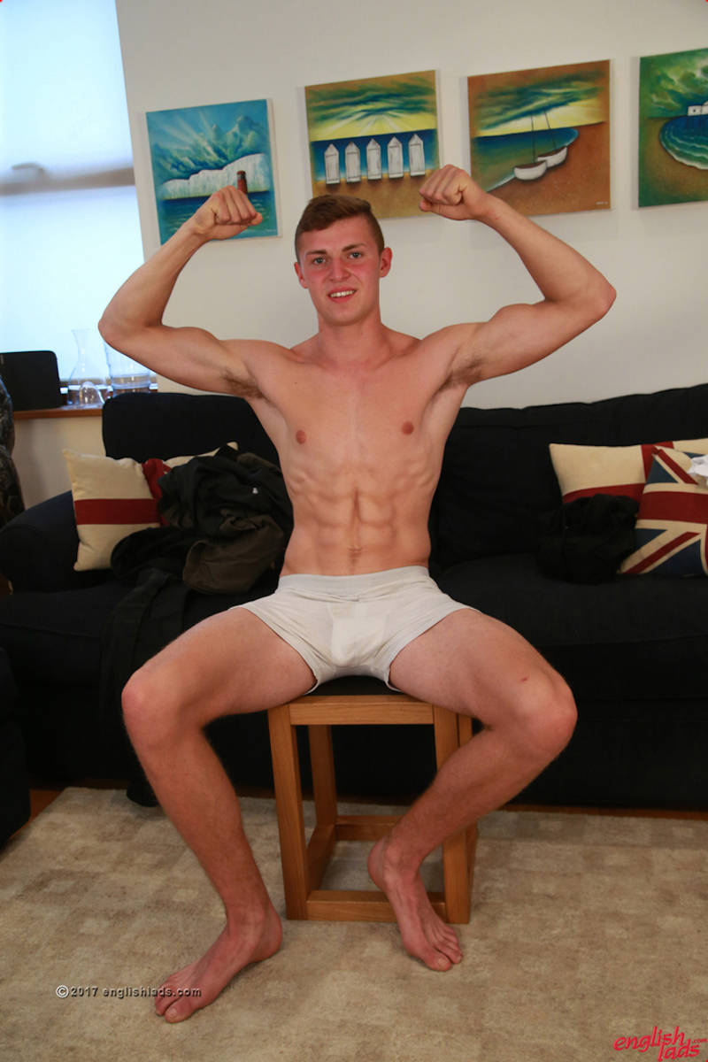 Otto Davies in a wanking shoot for gay porn site Englishlads