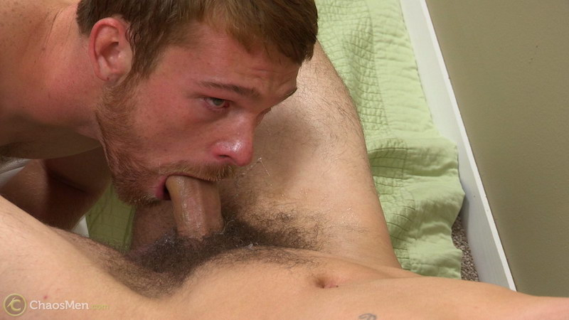 Straight guy sucks dick for first time