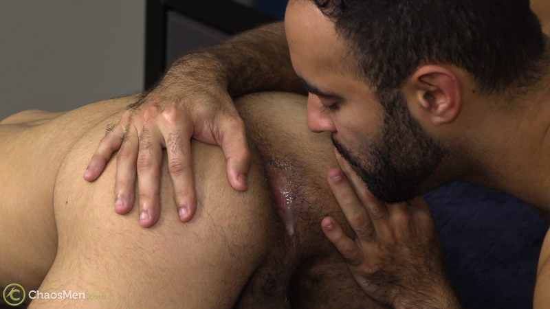 Rimming a straight guys ass