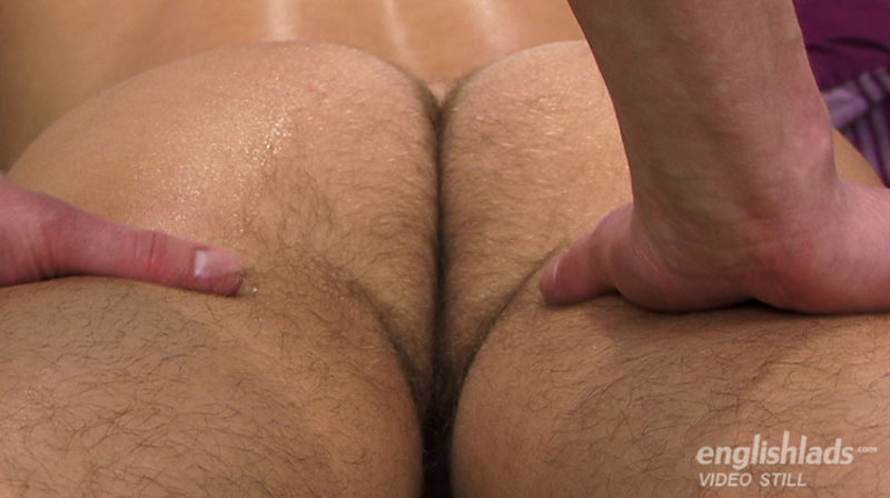hairy straight guys ass being massaged by another man