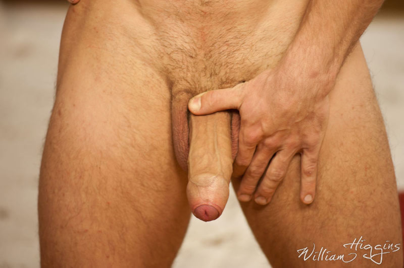 stiff and long uncut cock on a straight jock