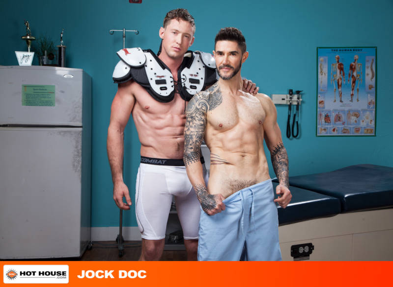 Hung football player with a horny doctor