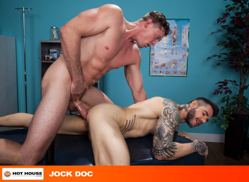 hung muscle jock fucking another man from behind