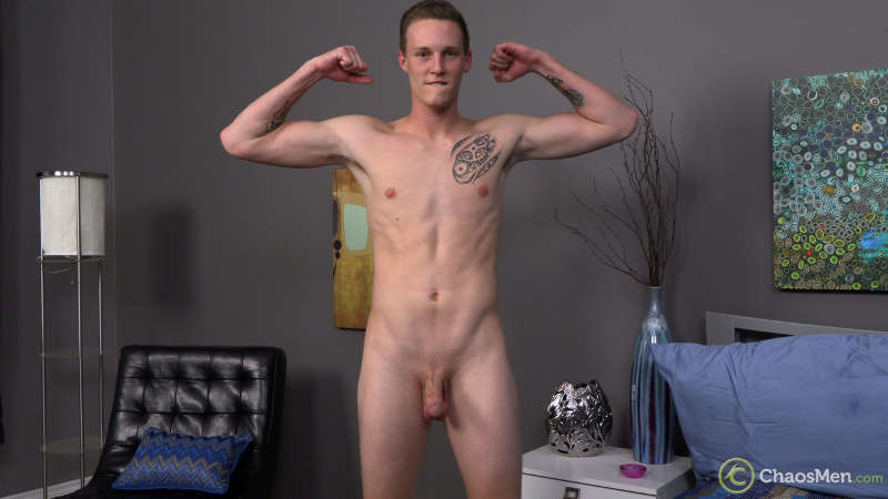 naked straight guy ready to jerk off