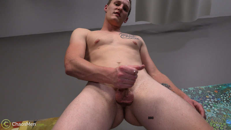 straight guy cums in a jerk off video