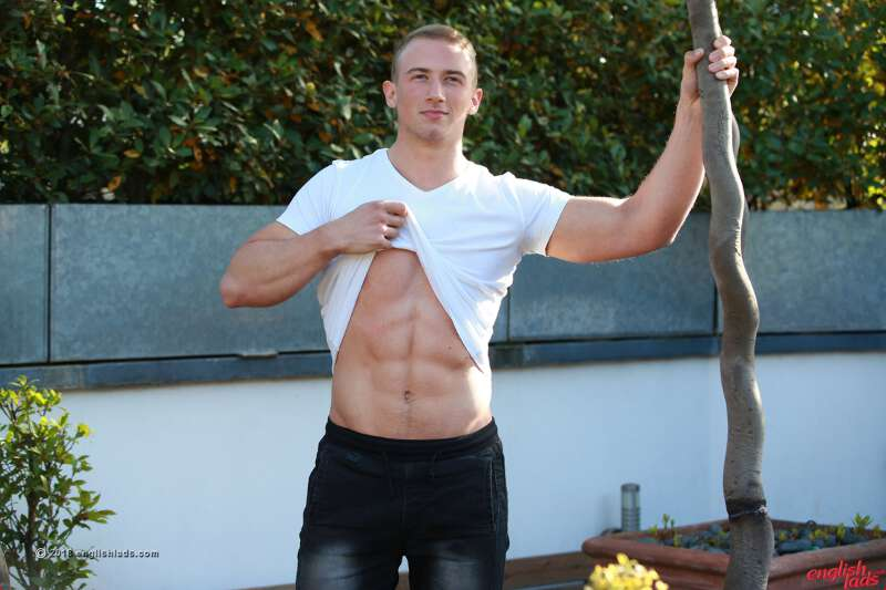 David Kolar showing his abs for englishlads