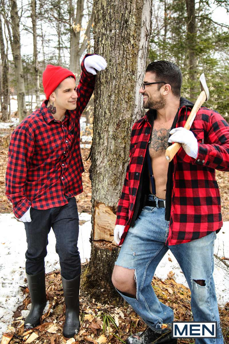two sexy lumberjacks
