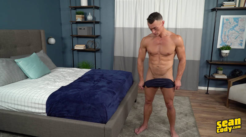 straight jock getting his cock out for a jerk off video