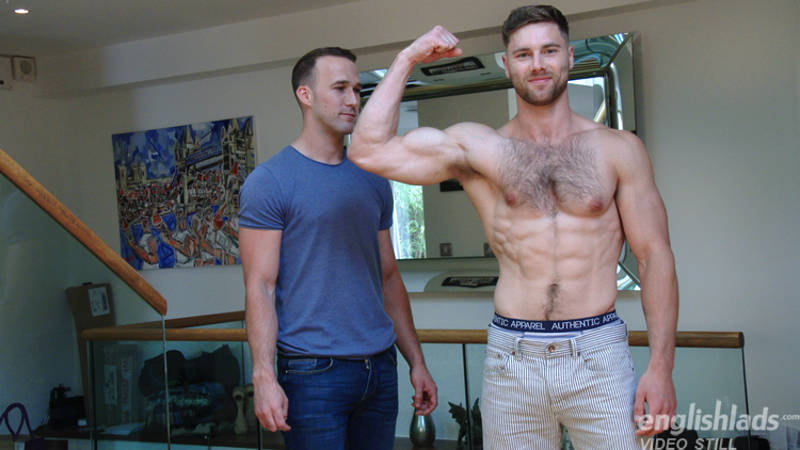 hairy jock posing for a straight friend