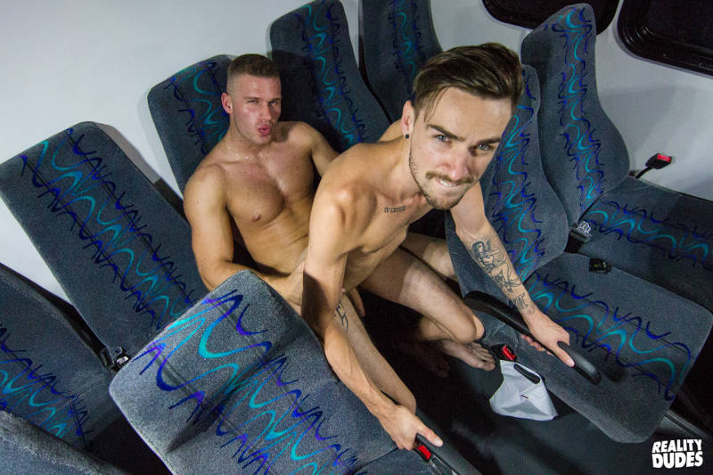 Lucas James riding the cock of muscled jock Charles Knight