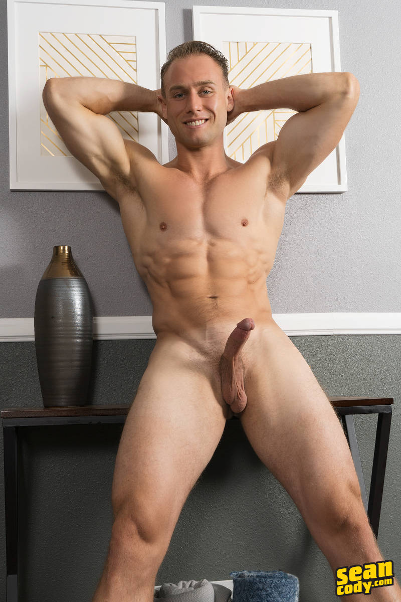 Muscle jock Clark wants to wank his hard cock for you