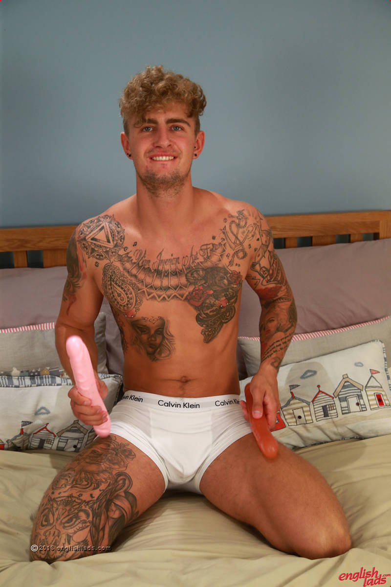 straight footballer Danny McCaw fucking his hole with a dildo
