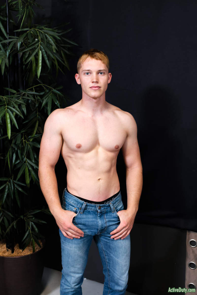 shirtless muscle jock in jeans